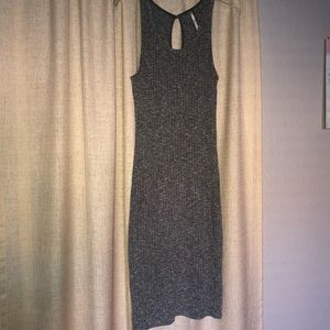 Dresses & Skirts - Gray ribbed dress